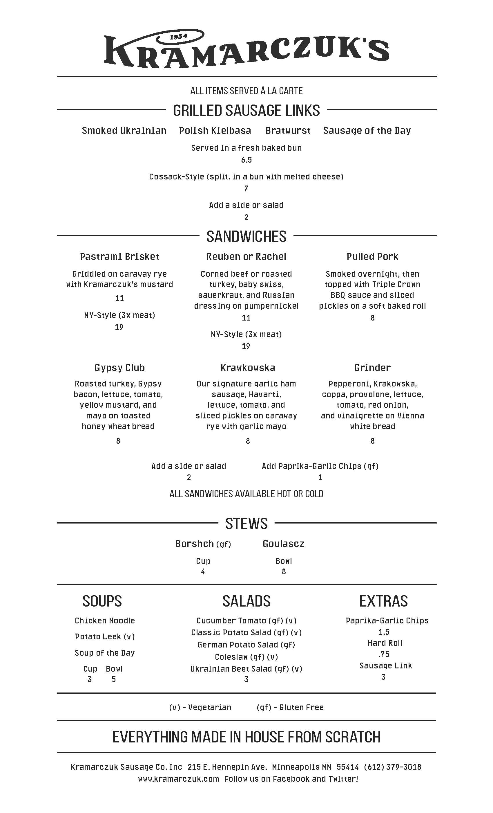 printable menu kramarczuk s